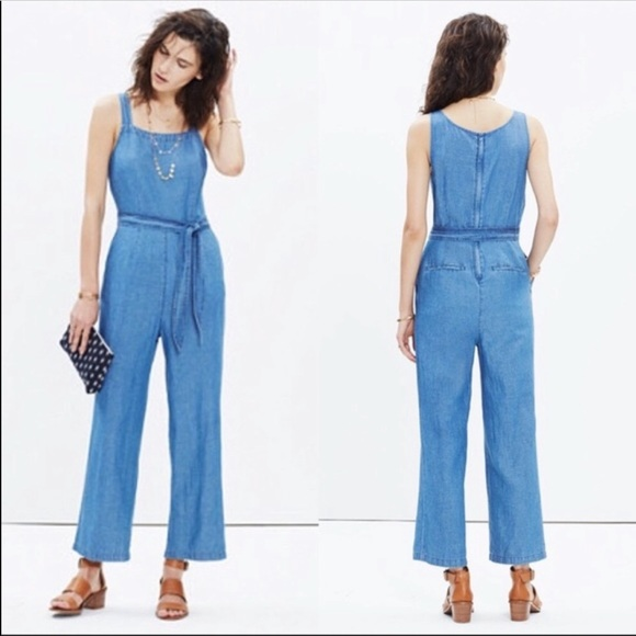 335164261e7 Madewell Pants - Madewell Muralist Crop Chambray Jumpsuit